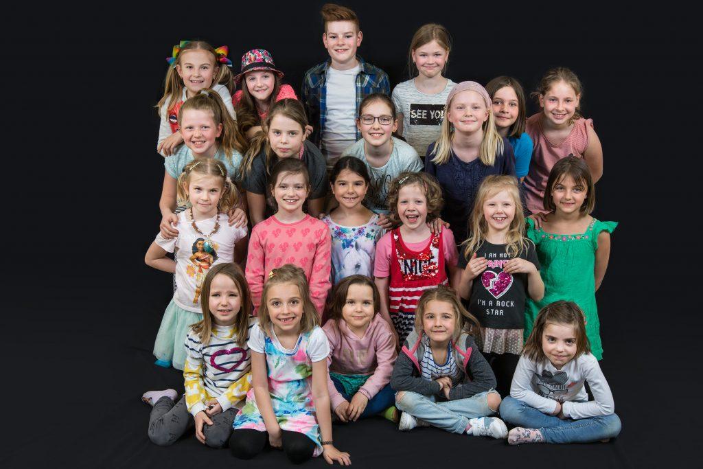 Gruppenfoto vom Kindertheater 2018
